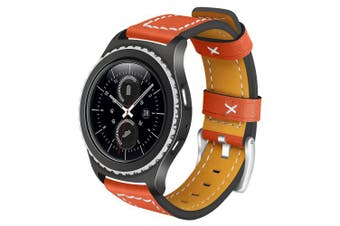 (Orange) - Gear S2 Classic / Gear Sport Leather Band AnGolf 20mm Leather Smart Watch Band Replacement Band Bracelet Wristband for Samsung Gear S2 Classic R732 / R735 / Gear Sport R600 / Moto 360 2nd Gen 42mm