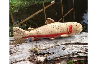 Cutthroat Trout Plush Toy Fish - 43cm Stuffed Animal Trout