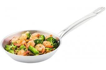 (20cm ) - Restaurantware RWT0018 Fry Pan, Stainless Steel