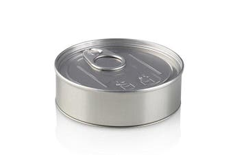 (20) - 100ml Press It In Tuna Cans - Self Seal Tins with black plastic lids (20)