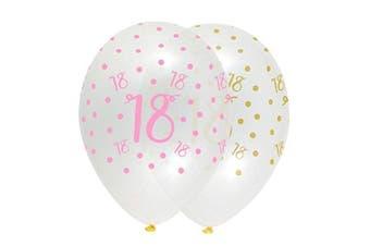 Pink Chic Happy 18th Birthday Latex Balloons
