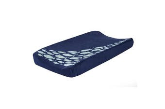 Lambs & Ivy Oceania Nappy Changing Pad Cover - Blue Fish