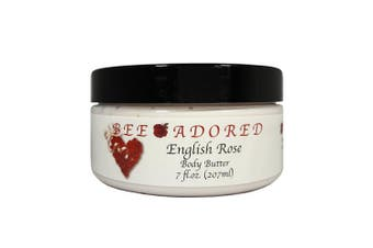 (8 Fluid Ounce, English Rose) - Bee Adored Body Butter, English Rose, 8 Fluid Ounce