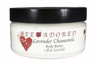 (8 Fluid Ounce, Lavender Chamomile) - Bee Adored Body Butter, Lavender Chamomile, 8 Fluid Ounce