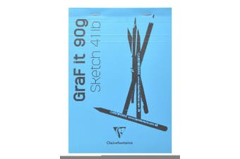 (A6, Plain, Turquoise) - Clairefontaine Graf It White Sketch Pad, 90 g, A6, 80 Sheets, Turquoise Cover