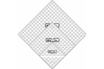 Bloc Loc~Half Square Triangle Ruler Set #7~8.9cm ,17cm ,24cm , Acrylic Ruler