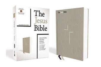 The Jesus Bible, NIV Edition, Cloth over Board, Gray Linen, Comfort Print