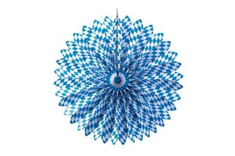 (Bavaria, 100cm Durchmesser) - Susy Card 11271236 Decorative FAN Bavarian Diamond Pattern Diameter 100 CM