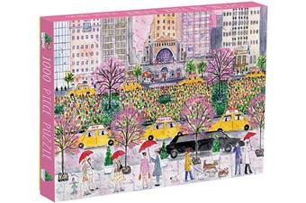 (Spring on Park Avenue) - Galison Michael Storrings Spring on Park Avenue Puzzle, 1000 Pieces, 50cm x 70cm , Vibrant Artwork, NYC's famed Park Avenue, Perfect for Family Fun