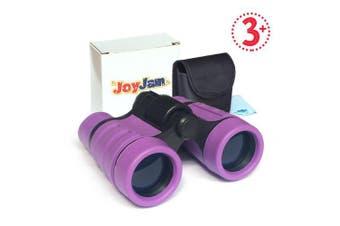 (Purple) - Joyjam Compact Shock Proof Kids Binoculars, Best Gift for Boys & Girls (Multi-Colour)