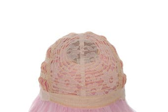 (T1911-Pink) - BESTUNG 25cm Short Straight Flapper Bob Wigs Synthetic Heat Resistant Cosplay Party Costume Halloween Hair Wig(T1911-Pink)