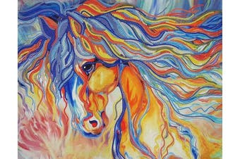 Bead Embroidery kit Rainbow Horse Beaded cross stitch Animals Needlepoint Handcraft Tapestry kit