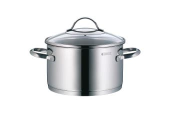 WMF High Casserole Ø 20 cm Approx. 3.3L Provence Plus Pouring Rim Glass Lid Cromargan® Stainless Steel Polished Suitable for Induction Hobs Dishwasher-Safe