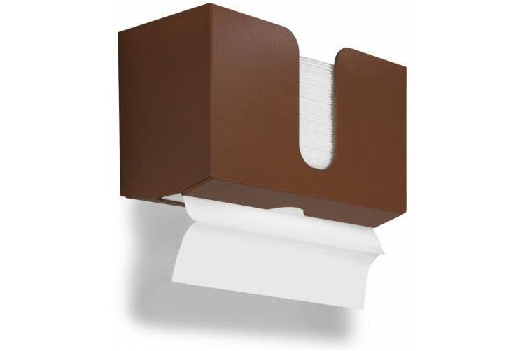 (Equestrian Brown) - TrippNT 51931 PETG Dual-Dispensing Paper Towel Holder, 28cm Width x 17cm Height x 11cm Depth, Equestrian Brown