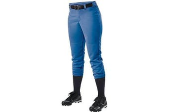 (X-Large, Royal) - Alleson Ahtletic Women's Fastpitch/Softball Belt Loop Pant