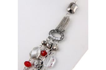 (061) - BOCAR Newest Multilayer Chain Crystal Coloured Glaze Statement Women Necklace