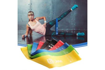(1) Set of 5, Multi-Color) - Limm Resistance Bands Exercise Loops - 30cm Full Body Workout Bands for Physical Therapy, Rehab, Stretching, Home Fitness, Yoga & More - Bonus EBooks, Instruction Manual, Online Videos & Carry Bag