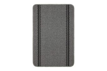 (Charcoal Grey, 100x67) - William Armes Dandy Kilkis Washable Kitchen Rug, 100 cm Length x 67 cm Width, Polypropylene, Charcoal Grey, 100x67