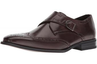 (11 UK, Brown) - Unlisted by Kenneth Cole Men's Bryce Monk-Strap Loafer