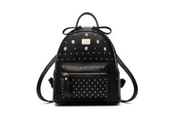(Black) - Women's Backpack Handbags Shoulder Bags School Backpack Daypack Laptop Bag PU Leather