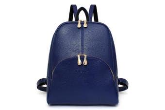 (Blue) - Women's Backpack Handbags Shoulder Bags School Backpack Daypack Laptop Bag PU Leather