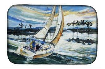 Caroline's Treasures JMK1055DDM Sailboats on Lake Martin Dish Drying Mat, 36cm x 50cm , Multicolor