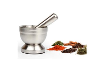 (Medium-Diameter 12CM(4.7In)) - Stainless Steel Mortar and Pestle, Homeself Crusher/Spice Grinder/Molcajete with Lid for Crushing Grinding Herb Seed Garlic Grinding - Food Safe & BPA Free (Medium-Diameter 12CM(4.7In))