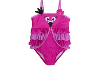 (3 - 6 Months, Flamingo) - BABY TOWN Infant Baby Girls Novelty Swimming Costume Swimsuit