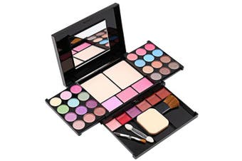 Eyeshadow Palette Makeup Palette 35 Bright Colours Matter and Shimmer Lip Gloss Blush Brushes Makeup Eyeshadow Palette Highly Pigmented Cosmetic Palette
