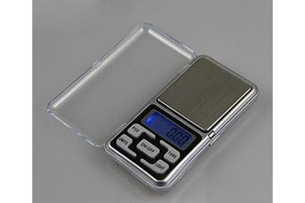 (0.01-500g) - Enterest Portable Mini Electronic Jewellery Scale Overload Protection Function Blue Backlit Colour in Silver Battery not Included Pocket Jewellery Scale (0.01-500g)