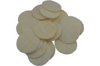 18 pcs/set Natural Exfoliating Face Pad Loofah Sponge Facial Brush - Shower Scrubber - Body Bath Spa For Men & Women - Renewable Resource - Pack of 18