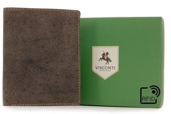 (Oil Brown - RFID) - Visconti Wallet - 707 Shield - Hunter Leather