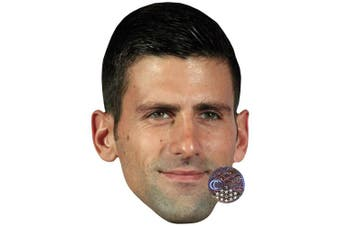 Novak Djokovic Celebrity Mask, Card Face and Fancy Dress Mask