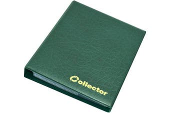COLLECTOR COIN ALBUM for 120 medium size coins like 50p £2 A-Z 10 pence 10p 50 pence £1 €1 €2 or other GREEN