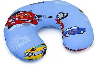 (Cars) - Cover Feeding Pillow Nursing MATERN ITY Baby Pregnancy Breastfeeding - ONLY Cover (Cars)