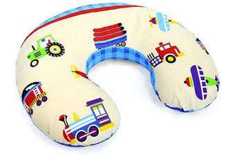 (Trucks) - Cover Feeding Pillow Nursing MATERN ITY Baby Pregnancy Breastfeeding - ONLY Cover (Trucks)