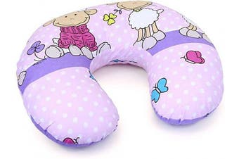 (Sheep pink) - Cover Feeding Pillow Nursing MATERN ITY Baby Pregnancy Breastfeeding - ONLY Cover (Sheep Pink)