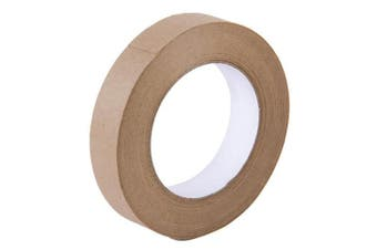 (24mm) - Water Activated Gummed Kraft Paper Tape - 24mm Width x 54.7 yd Length - Stretching Paper, Tamper Evident