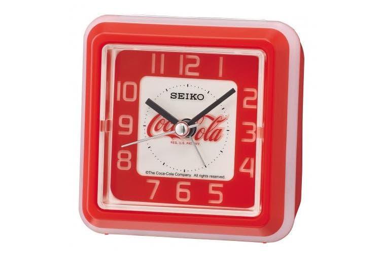 Seiko Alarm Clock, Plastic, red, 8.6 x 8.6 x 4.6 cm