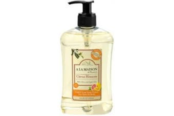 (Citrus Blossom with Olive & Argan Oils) - A La Maison - Traditional French Milled Liquid Soap for Hand & Body Citrus Blossom with Olive & Argan Oils - 500ml