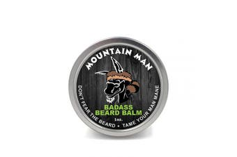 (Mountain Man, 30ml) - Badass Beard Care Beard Balm - Mountain Man Scent, 30ml - All Natural Ingredients, Keeps Beard and Moustache Full, Soft and Healthy, Reduce Itchy and Flaky Skin, Promote Healthy Growth