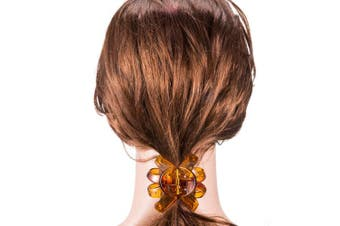 (6.5 cm, Brown and Black) - Bememo 4 Pieces Large Grip Octopus Clip Spider Hair Claw Octopus Jaw Hair Claw Clips for Thick Hair (6.5 cm, Brown and Black)