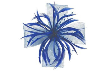 (Royal Blue) - Aurora Collection Biots and Beads Fascinator