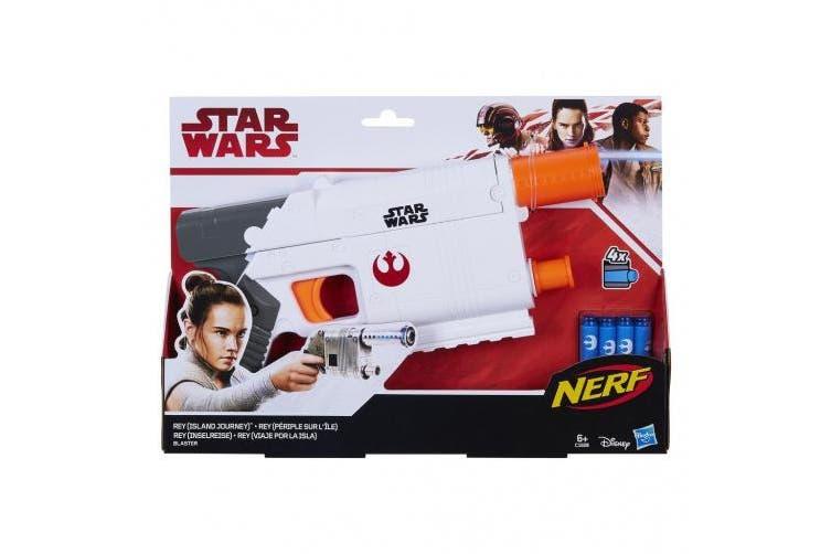 Star Wars Nerf Rey Island Journey Blaster Figure