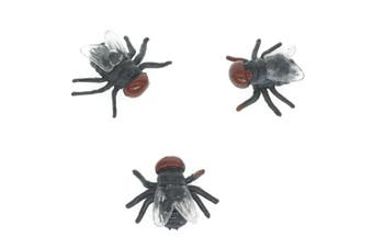 Cooplay 20pcs Fake Fly Flies Bug Plastic Mock Insects Reptile Joke Toys Prank Scary Trick Tricky Brains For Halloween Party