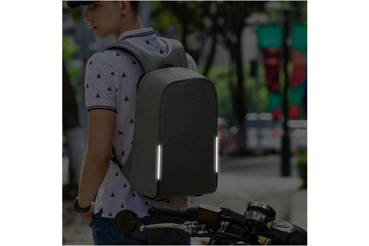(15.6 inch, Grey) - Kopack Waterproof Anti Theft Laptop Backpack with USB Charging Port Business Travel Backpack bag for Men Women Airport Friendly 40cm Grey