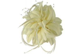 (Ivory) - Aurora Collection Flower Fascinator