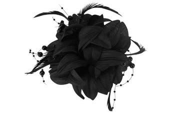 (Black) - Aurora Collection Flower Fascinator