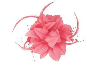 (Pink) - Aurora Collection Flower Fascinator