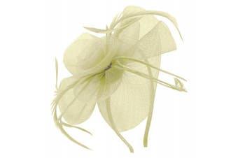 (Ivory) - Aurora Collection Swirl and Biots Fascinator on aliceband